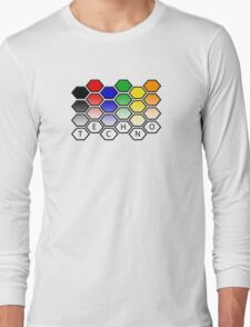 Techno Level Pattern Long Sleeve T-Shirt