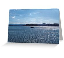 Excursion ship go by the Solina Lak Greeting Card