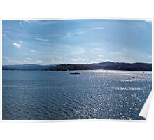 Excursion ship go by the Solina Lak Poster