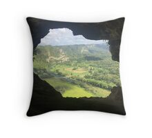 Cave Opening Throw Pillow