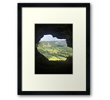 Cave Opening Framed Print