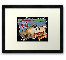 Kitty Wins!! Framed Print