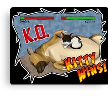 Kitty Wins!! Canvas Print