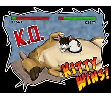 Kitty Wins!! Photographic Print