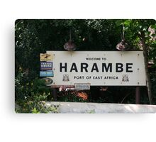 Welcome to Harambe - Walt Disney World Canvas Print