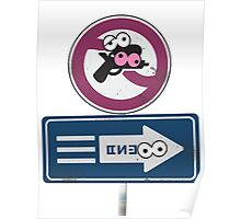 Splatoon Inspired: Googly Eyes Street Sign Poster
