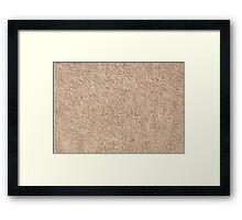 Merino fur or wool texture Framed Print