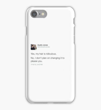 Austin jones tweet iPhone Case/Skin