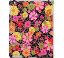 Flower Power on Black iPad Case/Skin