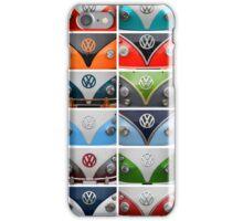 VW Camper Van Montage iPhone Case/Skin