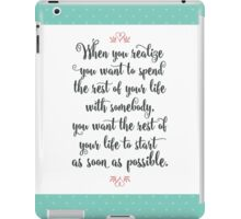 When Harry Met Sally - The Rest of Your Life iPad Case/Skin