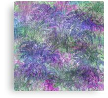 Color Leaf Explosion Abstract Canvas Print