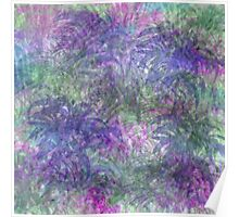 Color Leaf Explosion Abstract Poster