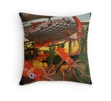 Ocean Invasion #8: Tending the Squid Hive Throw Pillow