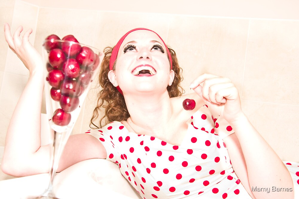 Cherries for your housewife?? by Marny Barnes