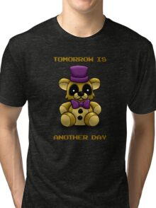 Tomorrow is another day - Fredbear FNAF  (no texture version) Tri-blend T-Shirt
