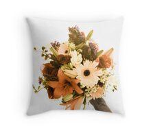 Wedding Bouquet Toss Throw Pillow