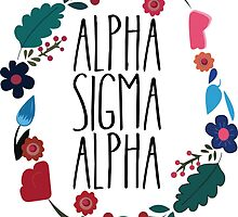 Alpha Sigma Alpha Flower Wreath by Margaret Young