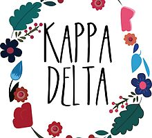 Kappa Delta Flower Wreath by Margaret Young