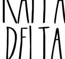 Kappa Delta Flower Wreath Sticker