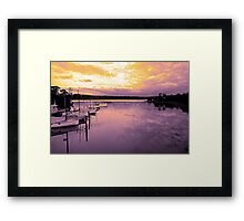 """Golden Bay"" Framed Print"
