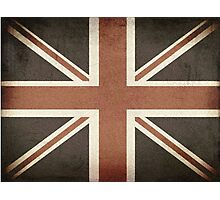 Vintage United Kingdom Flag Photographic Print