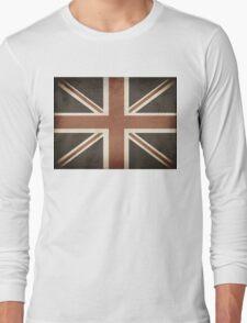 Vintage United Kingdom Flag Long Sleeve T-Shirt