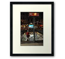 Metro descent Framed Print