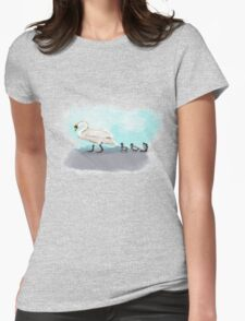 Swans Crossing Womens Fitted T-Shirt