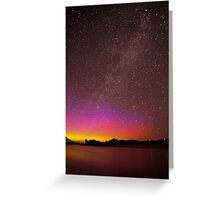 Northern Lights Over the Snake River Greeting Card
