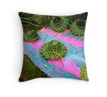 Fresh straw hats -Road to Hana, Maui Throw Pillow