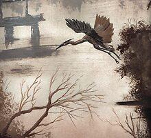 blue heron by artbygeorge77