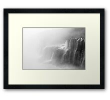 Misty Waterfalls Framed Print