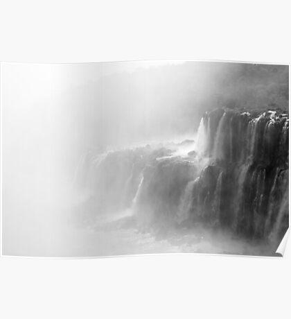 Misty Waterfalls Poster