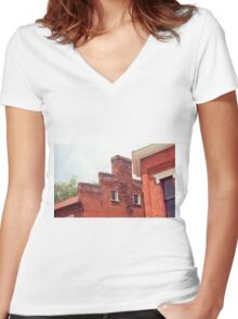 Jonesborough, Tennessee - Small Town Architecture Women's Fitted V-Neck T-Shirt