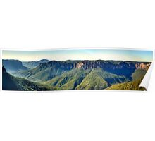 Stand In Awe  (45 Exposure HDR Panoramic) - Govetts Leap, Blue Mountains World Heritage Area - The HDR Experience Poster