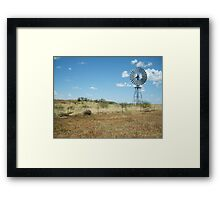 Windmill on the Plains Framed Print