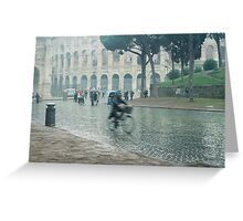 Ghost Rider in Rome Greeting Card