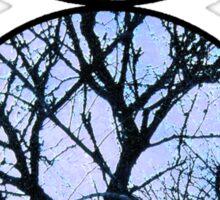 Blue Horned God Symbol Sticker
