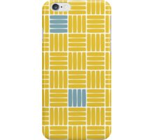 Weave Pattern - Gold and Blue iPhone Case/Skin