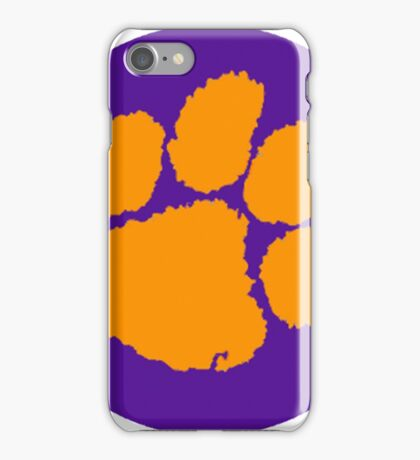 Clemson Tigers Paw  iPhone Case/Skin
