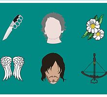 CARYL Symbols - Teal by Valerie Canizales