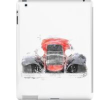 1932 Ford Roadster Red and Black Convertible iPad Case/Skin