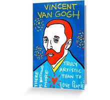Vincent van Gogh pop folk art Greeting Card
