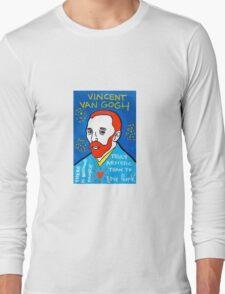 Vincent van Gogh pop folk art Long Sleeve T-Shirt