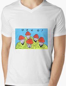 Are we not men! We are DEVO! -  Pop folk art  Mens V-Neck T-Shirt