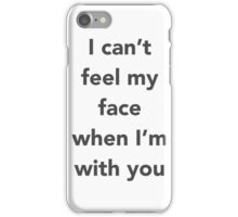"The Weeknd ""Cant Feel My Face"" iPhone Case/Skin"