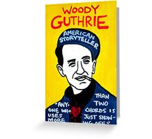 Woody Guthrie Folk Art Greeting Card