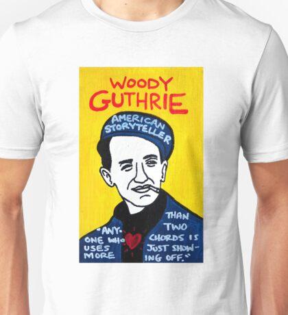 Woody Guthrie Folk Art Unisex T-Shirt
