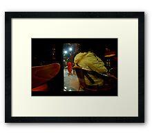 Giant Lobster Man Framed Print